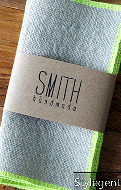 Smith Handmade Set de 6 servetele de cocktail din in - NEON CHARTREUSE