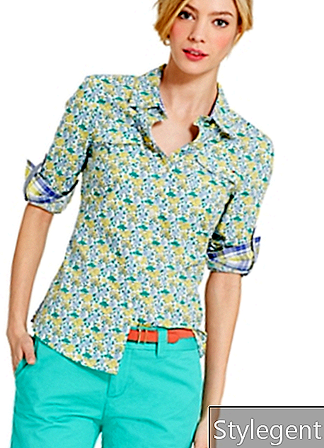 Tommy Hilfiger CAMISA FLORAL ROLL-TAB