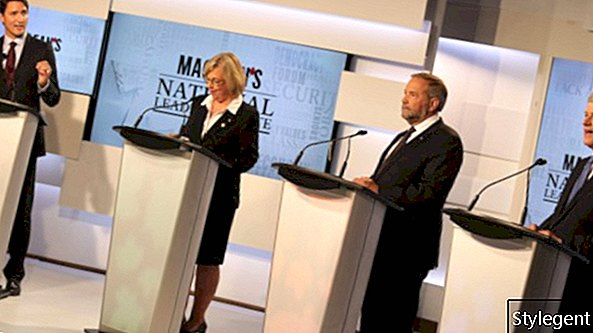 MACLEANS NATIONALE FÜHRER DEBATTEN, TORONTO, AM 6. AUGUST 2015. KREDIT: DILLAN COOLS / MACLEAN'S)